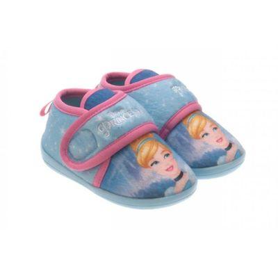 bota-infantil-princesas-azul-frontal