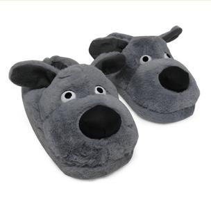 pantufa-3d-cachorro-cinza-frontal