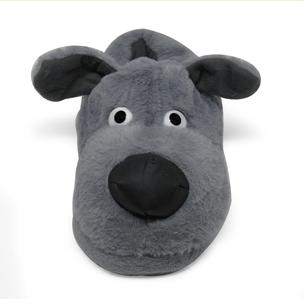 pantufa-3d-cachorro-cinza-frente